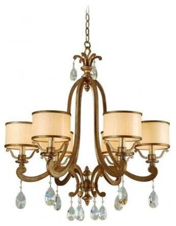 Corbett Lighting 71-06 Roma 6 Light Chandelier chandeliers