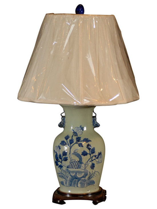 Current Inventory for Purchase - Antique Celadon Vase made into a lamp