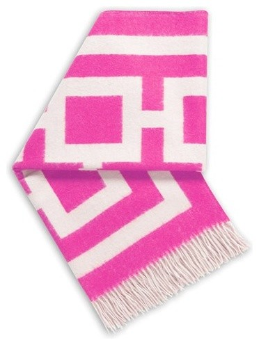 Jonathan Adler Nixon Hot Pink Throw Blanket modern throws