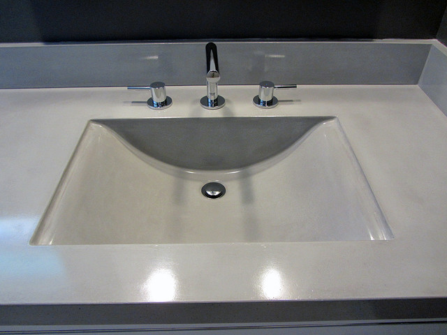 Bathroom sink countertop and backsplashes contemporary