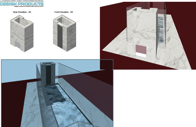 Marble Church Font contemporary-hot-tub-and-pool-supplies