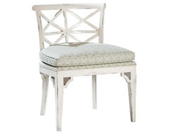 Orleans French Cottage Distressed White Dining Chair transitional-dining-chairs