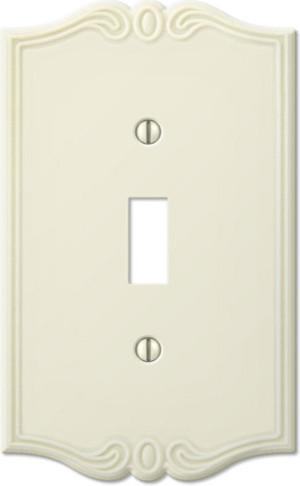 Charleston Plastic Almond Wallplates traditional-switchplates
