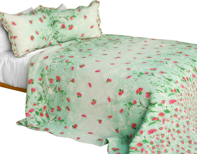 [Gakuen Alice] 3PC Cotton Contained Patchwork Quilt Set (Full/Queen Size) traditional-quilts
