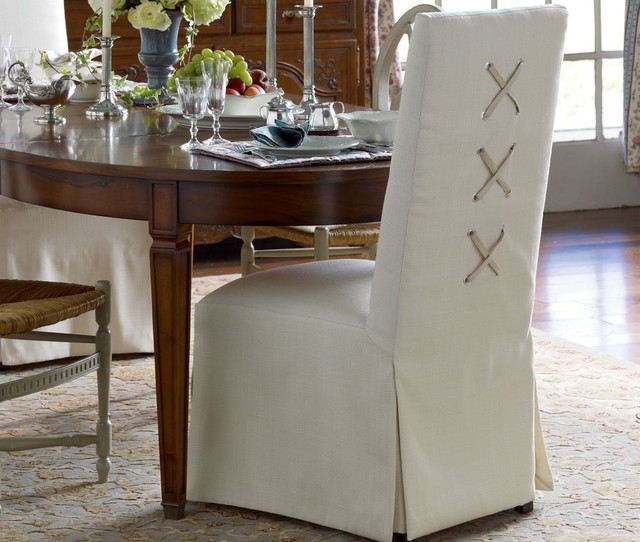 Laced-Back Slipper Dining Chair by Pierre Deux modern dining chairs and benches