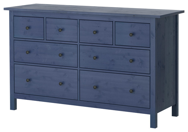 Hemnes Chest Of 8 Drawers Blue Contemporary Dressers By Ikea Uk