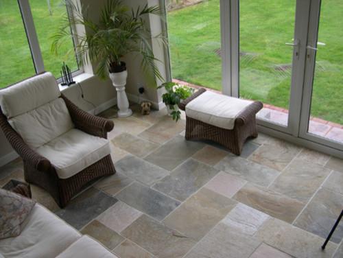 Slate floor tile - eclectic - floor tiles - by travertine-