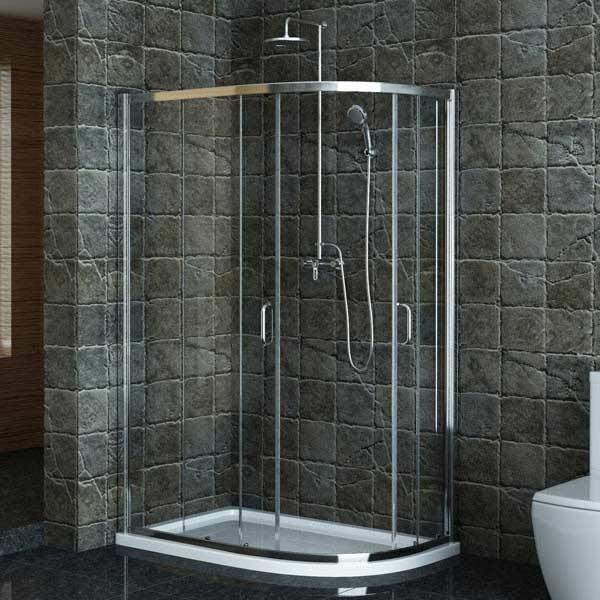 Technik Offset Sliding Door Enclosure 1000mm x 800mm modern-shower-doors