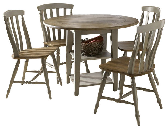 Liberty furniture al fresco 5 piece 42 inch round dining for Traditional round dining room sets
