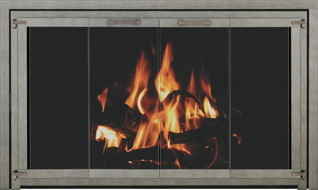 Trimline Zero Clearance Fireplace Door Fireplace Screens Other Metro By Fireplace Doors Online