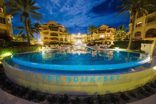 1 Resurface of a hotel pool w/glass tile (night time) - Modern - Pool - other metro - by ...