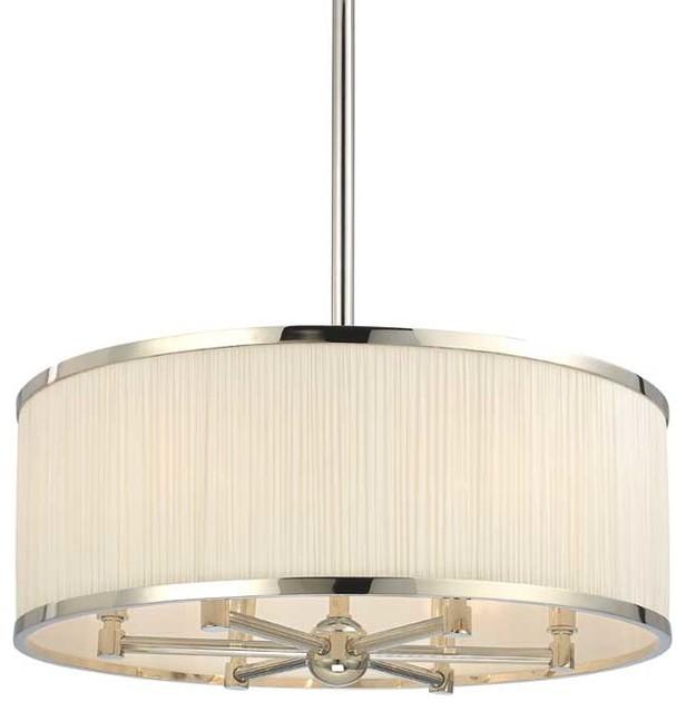 Hudson Valley Hastings I-6 Light Chandelier in Polished Nickel transitional-chandeliers