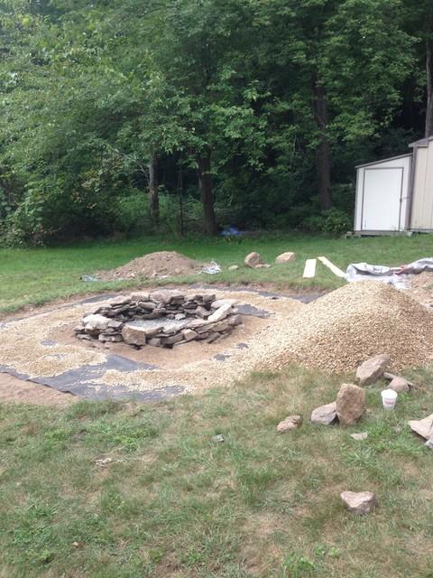 Natural Stone Fire Pit - Rustic - Landscape
