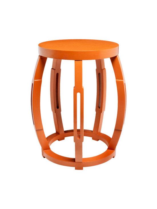 Taboret Stool Side Table, Orange -
