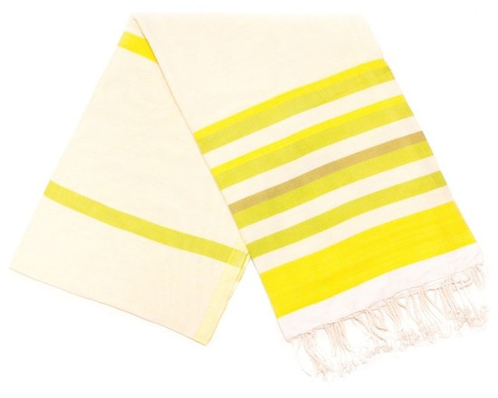 Spirit Turkish Bath Towels - Yellow - Absorbs water fast and dries quickly, this traditional Turkish towel takes up less space than a standard towel and is a great alternative in the bathroom. From yoga classes to beach sports to baby care, this cotton towel is also perfect as a light weight throw for many uses. Reversible.