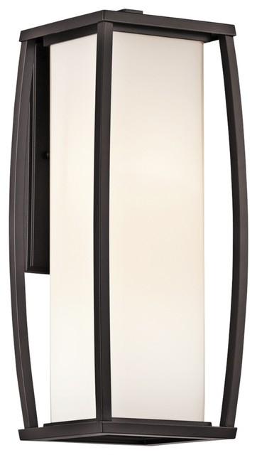 "Contemporary Kichler Bowen 18"" High Bronze Outdoor Wall Light contemporary-outdoor-lighting"
