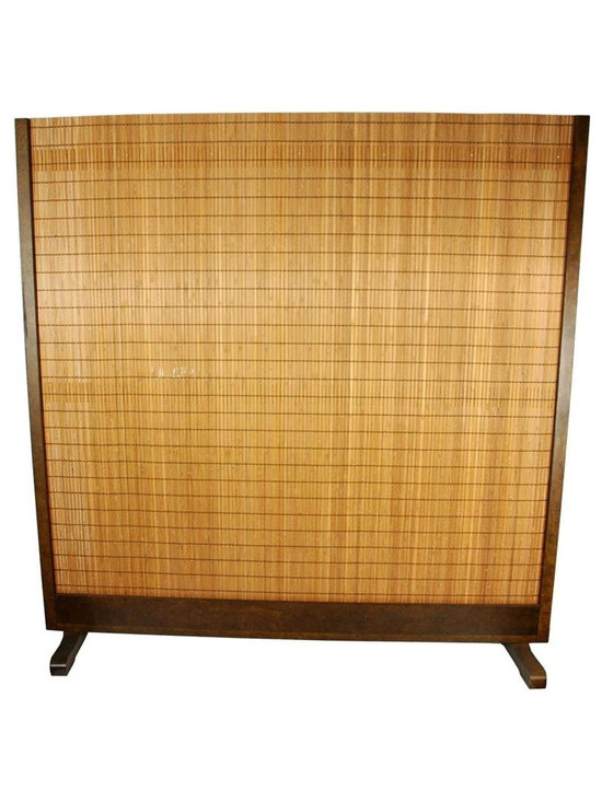 One Piece Bamboo Room Divider in Tobacco Finish -