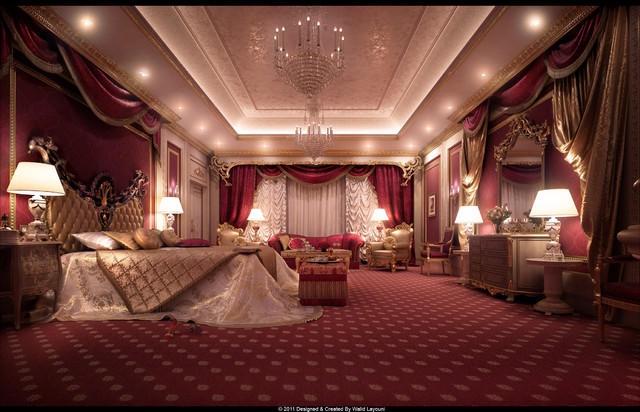 George v private royal suite traditional rendering for Straight line interiors