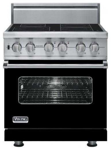 Viking 30 Pro Style Induction Range Black VISC5304BBK Gas Ranges A