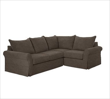 Pb comfort roll arm left 3 piece sectional slipcovers for 3 piece sectional sofa slipcovers