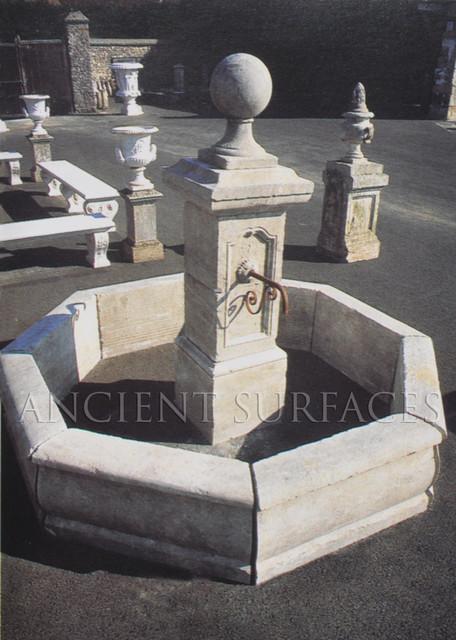 Garden fountains mediterranean-outdoor-fountains-and-ponds