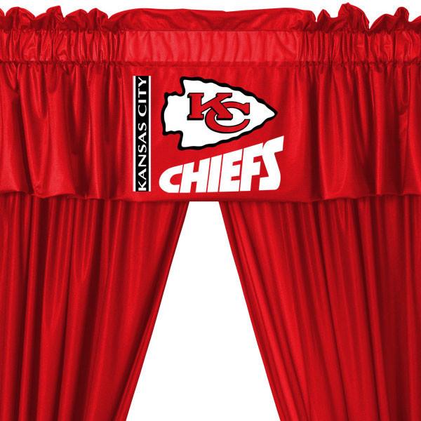 NFL Kansas City Chiefs 5pc Curtains and Valance Set modern-curtains