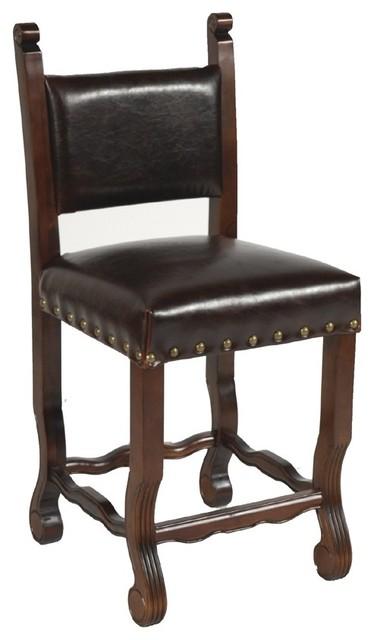 MOTI Furniture True Leather Curved Leg Spanish Counter