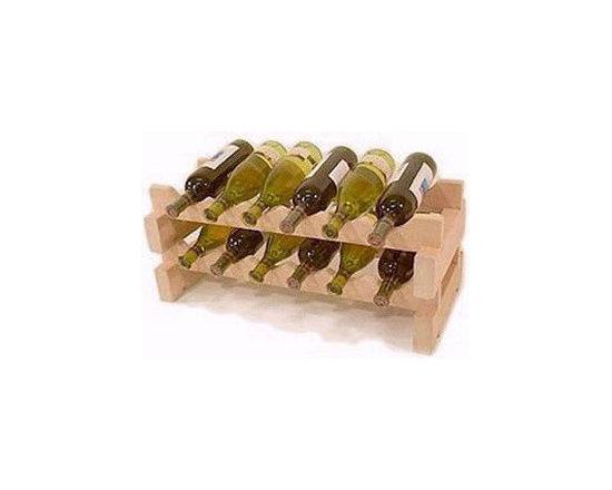 WineRacks.com's Small Capacity Wine Racks: 12 Bottle Stackable Rack -