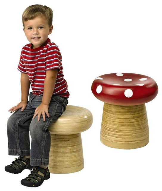 Handmade Bamboo Stools contemporary-kids-chairs