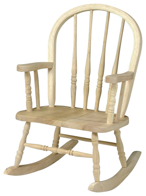 ... Concepts Unfinished Windsor Rocker - Transitional - Rocking Chairs