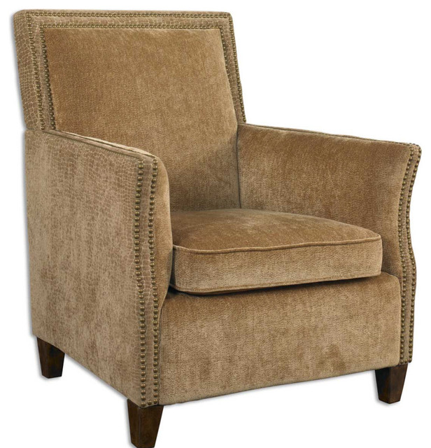Amani Sculpted Reptile-Look Fabric Armchair rustic-armchairs-and-accent-chairs