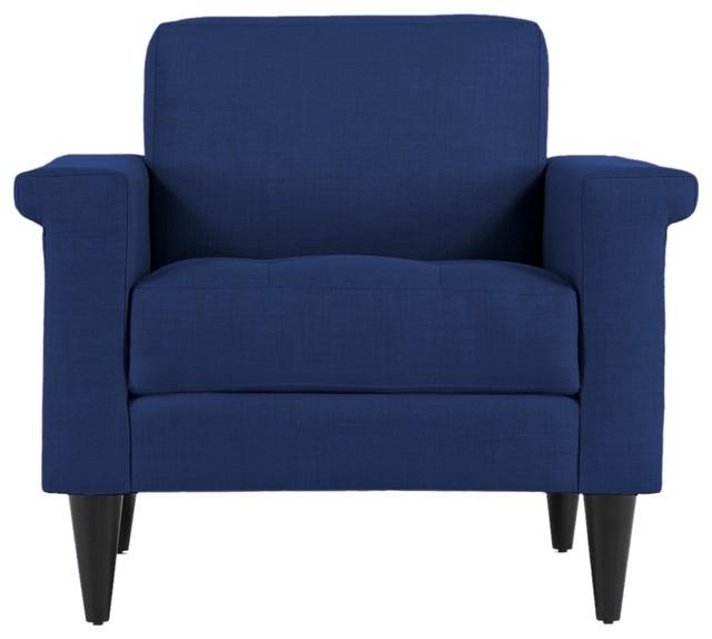 The Coronado Chair Royal Blue Modern Accent Chairs