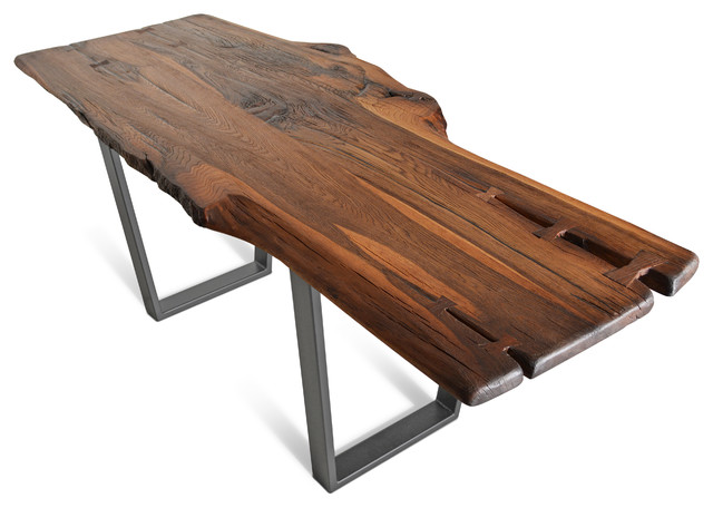 quotBrown Beautyquot Live Edge Modern Dining Table with Steel  : contemporary dining tables from www.houzz.com size 640 x 456 jpeg 59kB