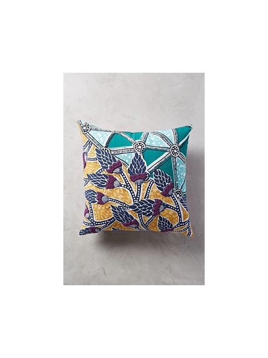 Anthropologie - Ceplok Pillow - Hand-embroidered cotton; polyfill. Dry clean. Imported. Square: 20'' x 20''. Rectangle: 14'' x 20''