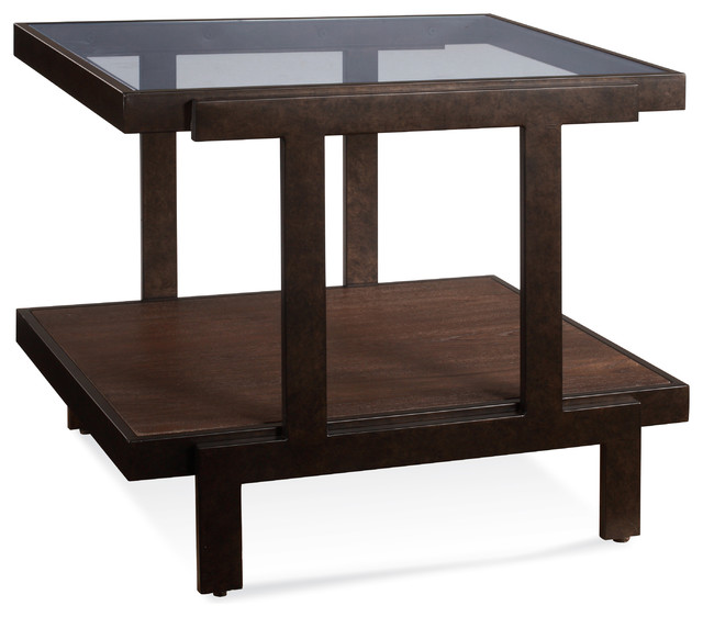 Bassett Mirror Beasley Rectangle End Table Contemporary Side Tables And End Tables By