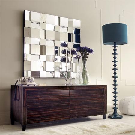 Mosaic Multi-Facet Mirror contemporary