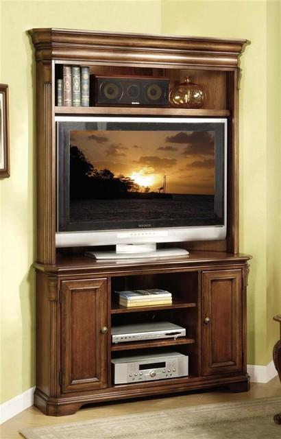 Brookhaven 48 in. TV Corner Console w Hutch - Contemporary ...