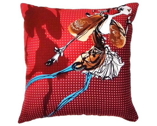 Party Girl Pillow from Christian Lacroix Scarf - 24x24-From Christian Lacroix Silk Twill Scarf