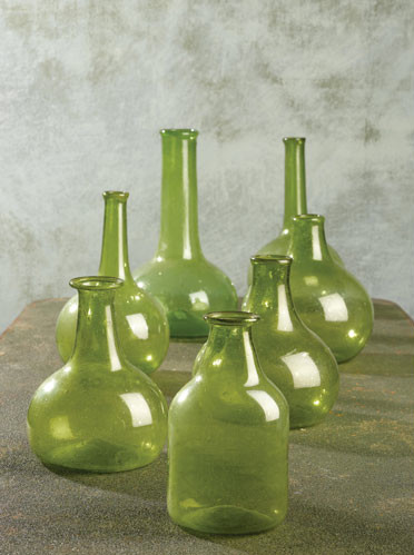 Verdigris™ Vintage Decorative Bottles traditional-vases