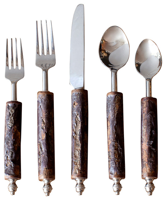 Bark Flatware Set Contemporary Flatware And Silverware Sets By Bobo Intriguing Objects