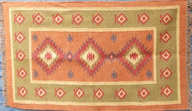 Dhurrie rugs traditional-carpet-flooring