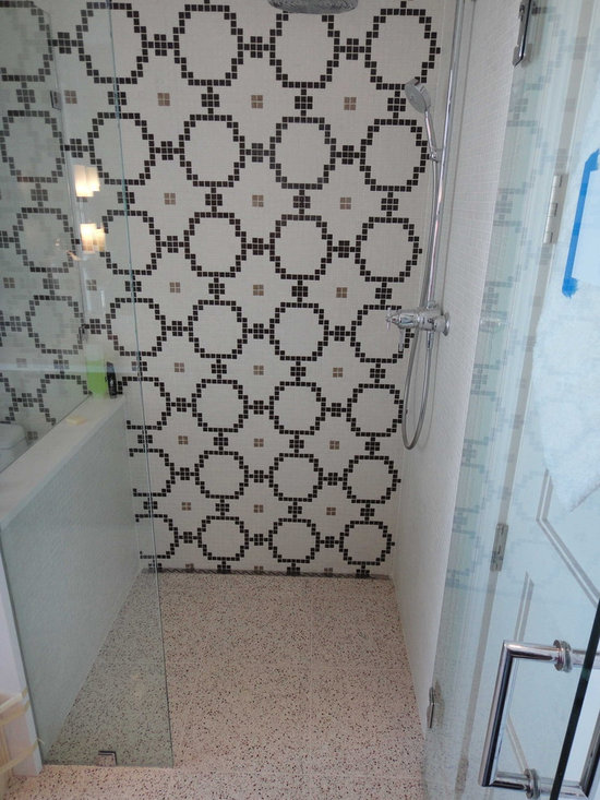 Curbless Shower with Continuous Tile -