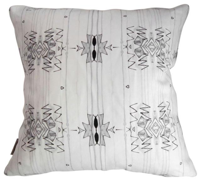 "Akimbo 3 Greyscale 18""X18"" Pillow eclectic-decorative-pillows"