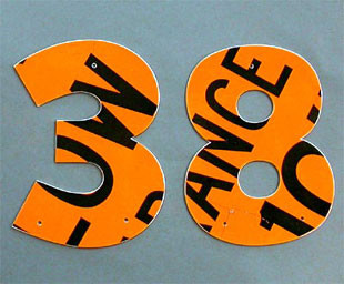 Traffic Sign House Numbers eclectic-house-numbers