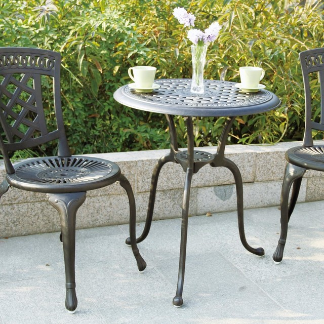 darlee new port 2 person cast aluminum patio bistro set