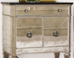 Two-Door Mirrored Chest traditional dressers chests and bedroom armoires