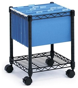 Compact Mobile Filing Cart modern-filing-cabinets