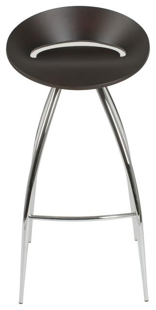 Rubin-B Bar Stool-Wenge/Chrome contemporary-bar-stools-and-counter-stools