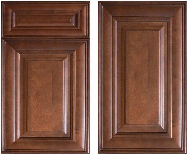 Chocolate Glaze Kitchen Cabinets Home Design - Traditional - Kitchen ...