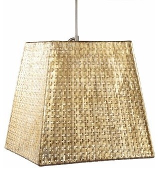 Selamat Designs Seline Square Tapered Pendant - 20W in. Metallic modern ceiling lighting